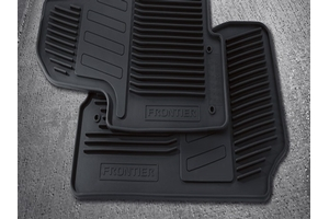 View Floor Mats, All-Season, King Cab (Rubber / 2-Piece / Black) Full-Sized Product Image